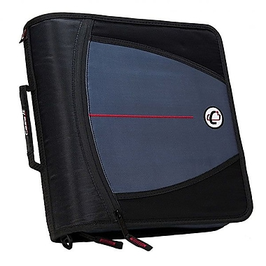 Case-It 3in. Zipper Binder, Assorted