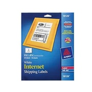 """Avery® 5 1/2"""" x 8 1/2"""" Shipping Label, White"""