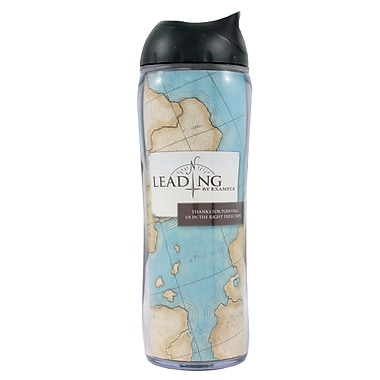 Baudville® No Spill Travel Mug, Compass Leading by Example