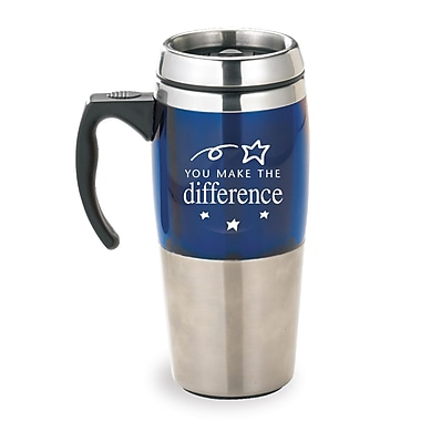 Baudville® Stainless Steel Travel Mugs