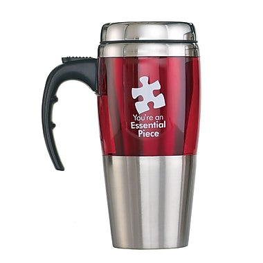 Baudville® Stainless Steel Travel Mug, Essential Piece