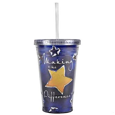 Baudville® Twist Top Tumbler With Straw, Making the Difference