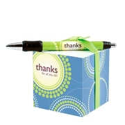 Baudville® Sticky Note Cube With Pen Set, Thanks for All You Do!