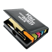 Baudville® Flip Top Sticky Note Holder With Pen and Calendar, Teamwork