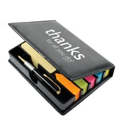 Baudville® Flip Top Sticky Note Holder With Pen and Calendar, Thanks for All You