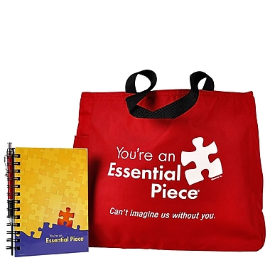 Baudville® Tote Bag With Journal And Pen, Essential Piece