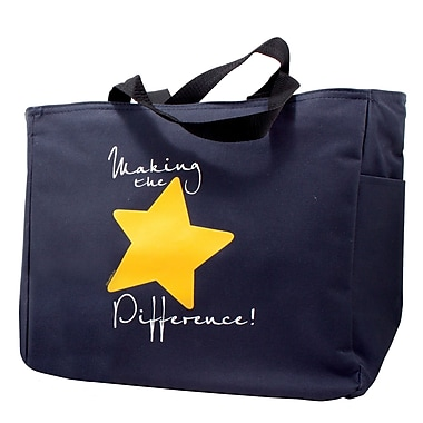 Baudville® Navy Tote Bag, It Takes Teamwork