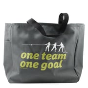 Baudville® Grey Tote Bag, One Team, One Goal