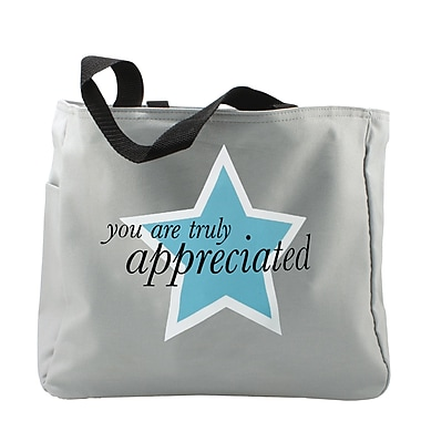 Baudville® Light Grey Tote Bag, You Are Truly Appreciated