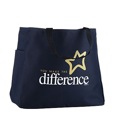 Baudville® Navy Tote Bag, You Make the Difference