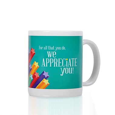 Baudville® Full-Color Coffee Mug, We Appreciate You