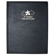 Baudville® Vinyl Notepad Holder, It Takes Teamwork