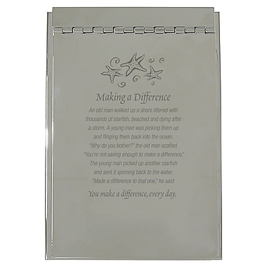 Baudville® Silver Flip Memo Pad Holder, Starfish: Making a Difference