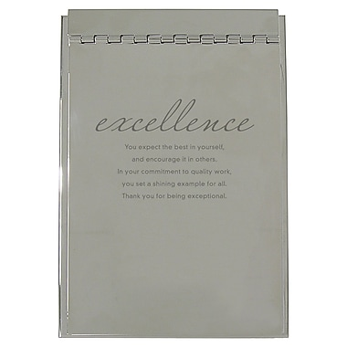 Baudville® Silver Flip Memo Pad Holder, Excellence