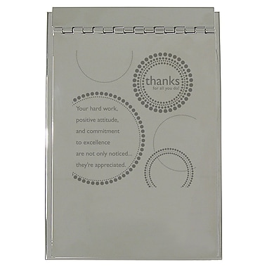 Baudville® Silver Flip Memo Pad Holder, Thanks for All You Do!