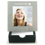 Baudville® Silver Picture Frame With Notepad Holder, Essential Piece