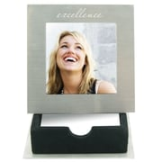 Baudville® Silver Picture Frame With Notepad Holder, Excellence