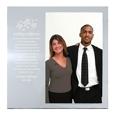 Baudville® Silver Photo Frame, Starfish: Making a Difference