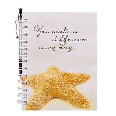 Baudville® Hardcover Journal With Pen, Starfish: Making a Difference