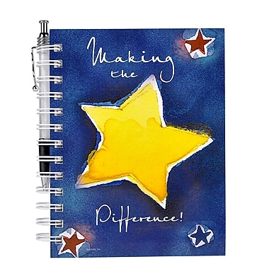 Baudville® Hardcover Journal With Pen, Making the Difference