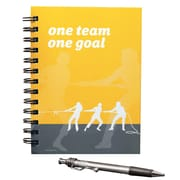 Baudville® Hardcover Journal With Pen, One Team, One Goal