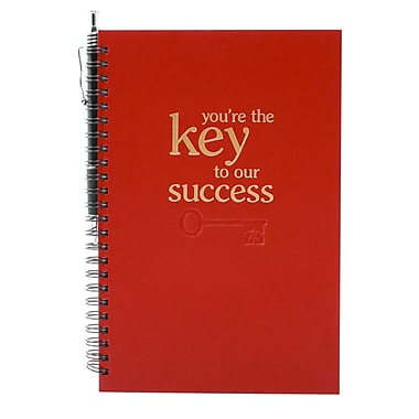 Baudville® Foil-Stamped Journal With Pen, Key to Success