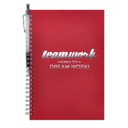 Baudville® Foil-Stamped Journal With Pen, Teamwork Makes the Dream Work