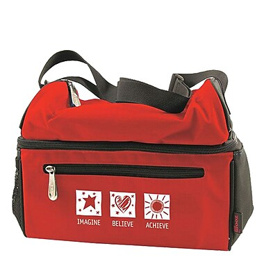 Baudville® Insulated Cooler Bag, Imagine Believe Achieve