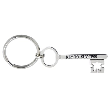 Baudville® Nickel-Finish Key Chain, Key to Success