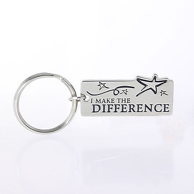 Baudville® Nickel-Finish Key Chain, I Make the Difference