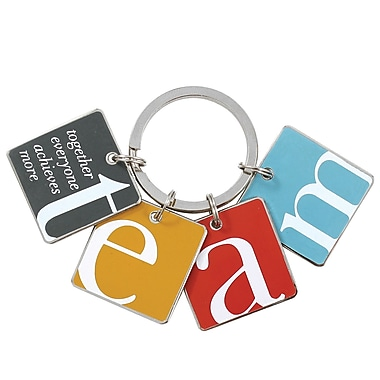 Baudville® in.TEAMin. Colorful Silver Star Charm Key Chains