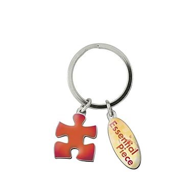 Baudville® Colorful Simply Charming Key Chain, Essential Piece