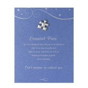 Baudville® Pewter Character Pin With Card, Essential Piece - Blue Card