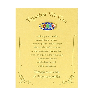 Baudville® Character Pin With Card, Together We Can