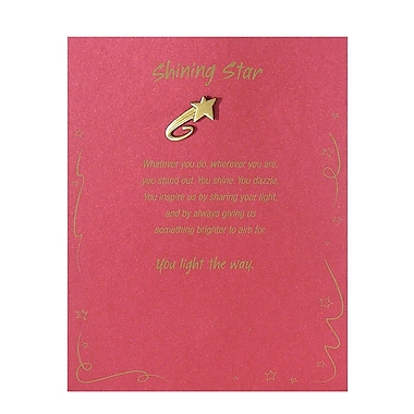 Baudville® Antiqued Brass Character Pin With Card, Shooting Star Shining Star
