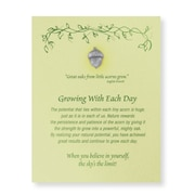 Baudville® Pewter Character Pin With Card, Growing With Each Day