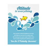 Baudville® Bright Silver Metal Character Pin With Card, Attitude is Everything