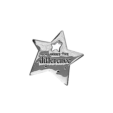 Baudville® Lapel Pin, You Make the Difference Star