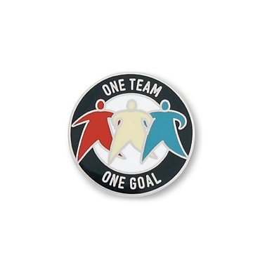 Baudville® Lapel Pin, One Team, One Goal