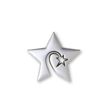 Baudville® Lapel Pin, Swirly Star