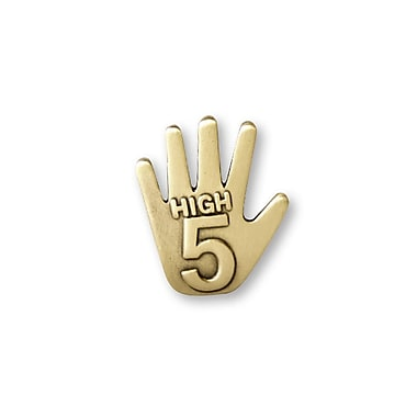 Baudville® Lapel Pin, High 5 Gold