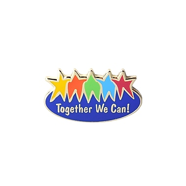 Baudville® Lapel Pin, Together We Can