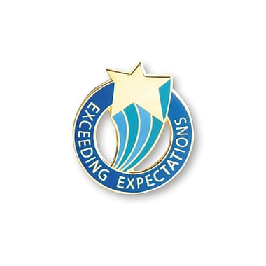 Baudville® Lapel Pin, Exceeding Expectations