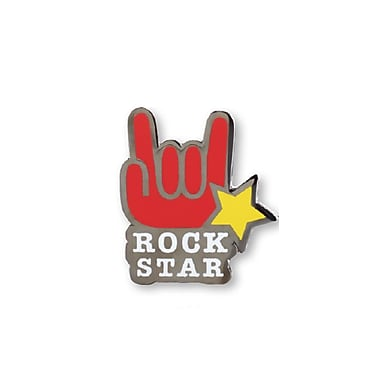 Baudville® Lapel Pin, Rock Star Hand