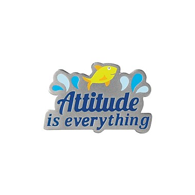 Baudville® Lapel Pin, Attitude is Everything Fish