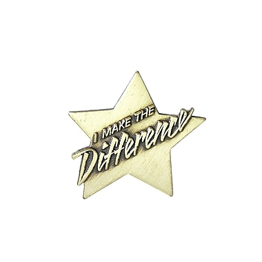 Baudville® Lapel Pin, I Make the Difference