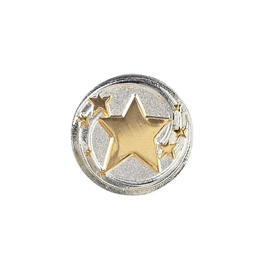Baudville® Lapel Pin, Shooting Stars Round