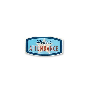 Baudville® Lapel Pin, Perfect Attendance - Star