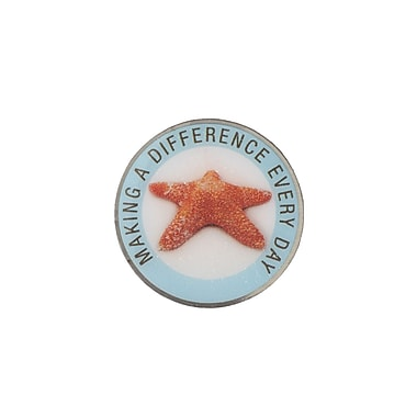 Baudville® Nickel Plated Metal Lapel Pin, Making a Difference Everyday