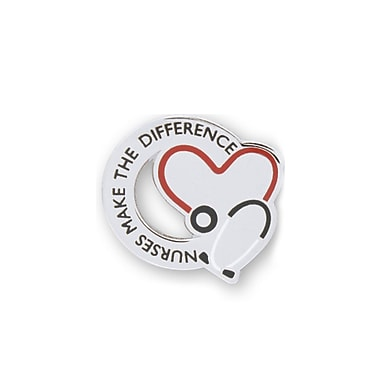 Baudville® Lapel Pin, Nurses Make the Difference Stethoscope